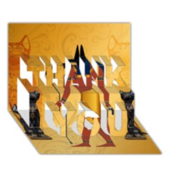 Anubis, Ancient Egyptian God Of The Dead Rituals  Thank You 3d Greeting Card (7x5)