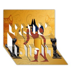 Anubis, Ancient Egyptian God Of The Dead Rituals  You Did It 3D Greeting Card (7x5)