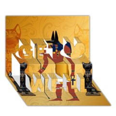 Anubis, Ancient Egyptian God Of The Dead Rituals  Get Well 3d Greeting Card (7x5)