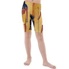 Anubis, Ancient Egyptian God Of The Dead Rituals  Kid s swimwear