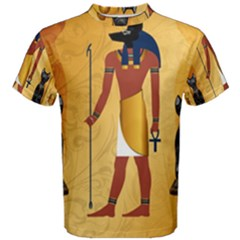 Anubis, Ancient Egyptian God Of The Dead Rituals  Men s Cotton Tees