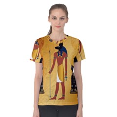 Anubis, Ancient Egyptian God Of The Dead Rituals  Women s Cotton Tees