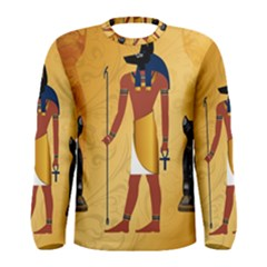 Anubis, Ancient Egyptian God Of The Dead Rituals  Men s Long Sleeve T-shirts