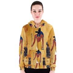 Anubis, Ancient Egyptian God Of The Dead Rituals  Women s Zipper Hoodies