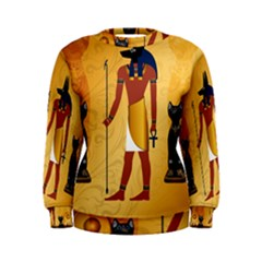 Anubis, Ancient Egyptian God Of The Dead Rituals  Women s Sweatshirts