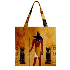 Anubis, Ancient Egyptian God Of The Dead Rituals  Zipper Grocery Tote Bags
