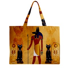 Anubis, Ancient Egyptian God Of The Dead Rituals  Zipper Tiny Tote Bags