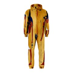 Anubis, Ancient Egyptian God Of The Dead Rituals  Hooded Jumpsuit (Kids)