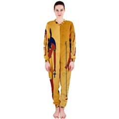 Anubis, Ancient Egyptian God Of The Dead Rituals  OnePiece Jumpsuit (Ladies)