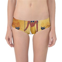 Anubis, Ancient Egyptian God Of The Dead Rituals  Classic Bikini Bottoms