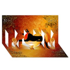 Anubis, Ancient Egyptian God Of The Dead Rituals  MOM 3D Greeting Card (8x4)