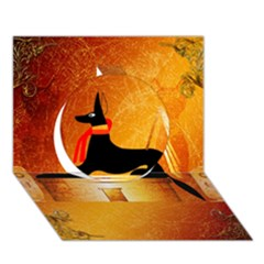 Anubis, Ancient Egyptian God Of The Dead Rituals  Circle 3d Greeting Card (7x5)
