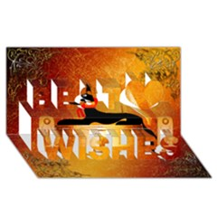 Anubis, Ancient Egyptian God Of The Dead Rituals  Best Wish 3d Greeting Card (8x4)