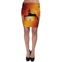 Anubis, Ancient Egyptian God Of The Dead Rituals  Bodycon Skirts