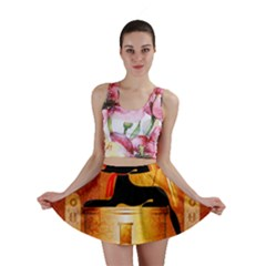 Anubis, Ancient Egyptian God Of The Dead Rituals  Mini Skirts
