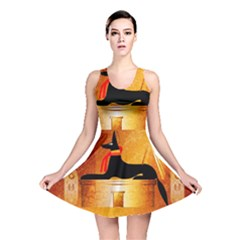Anubis, Ancient Egyptian God Of The Dead Rituals  Reversible Skater Dresses
