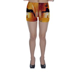 Anubis, Ancient Egyptian God Of The Dead Rituals  Skinny Shorts