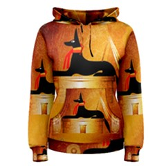 Anubis, Ancient Egyptian God Of The Dead Rituals  Women s Pullover Hoodies