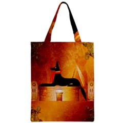 Anubis, Ancient Egyptian God Of The Dead Rituals  Zipper Classic Tote Bags