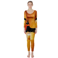 Anubis, Ancient Egyptian God Of The Dead Rituals  Long Sleeve Catsuit