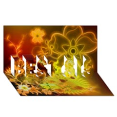 Glowing Colorful Flowers Best Sis 3d Greeting Card (8x4)