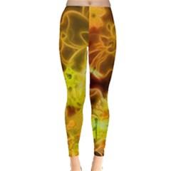 Glowing Colorful Flowers Women s Leggings