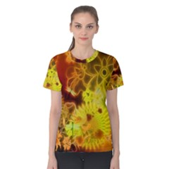 Glowing Colorful Flowers Women s Cotton Tees