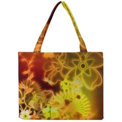 Glowing Colorful Flowers Tiny Tote Bags