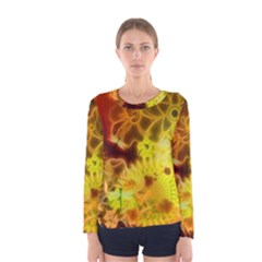 Glowing Colorful Flowers Women s Long Sleeve T-shirts