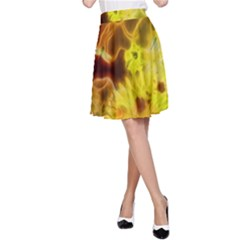Glowing Colorful Flowers A-Line Skirts