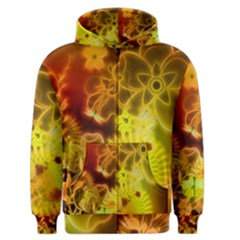 Glowing Colorful Flowers Men s Zipper Hoodies