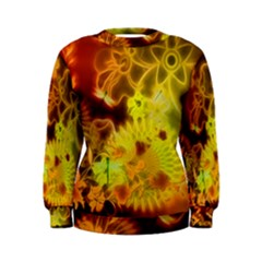 Glowing Colorful Flowers Women s Sweatshirts