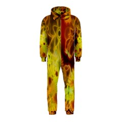 Glowing Colorful Flowers Hooded Jumpsuit (Kids)