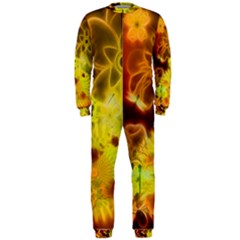 Glowing Colorful Flowers OnePiece Jumpsuit (Men)