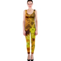 Glowing Colorful Flowers OnePiece Catsuits