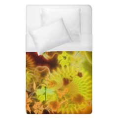 Glowing Colorful Flowers Duvet Cover Single Side (single Size)