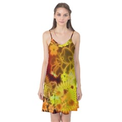 Glowing Colorful Flowers Camis Nightgown