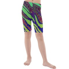 Florescent Zebra Print Pattern  Kid s swimwear