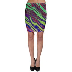 Florescent Zebra Print Pattern  Bodycon Skirts
