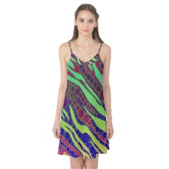 Florescent Zebra Print Pattern  Camis Nightgown