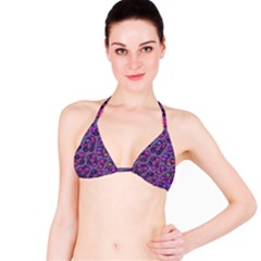 Purple Cheetah Pattern  Bikini Tops