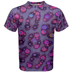 Purple Cheetah Pattern  Men s Cotton Tees