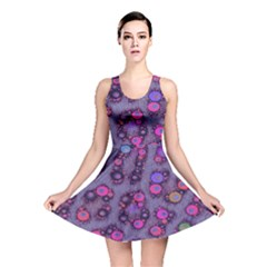 Purple Cheetah Pattern  Reversible Skater Dresses