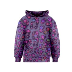 Purple Cheetah Pattern  Kid s Pullover Hoodies