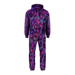 Purple Cheetah Pattern  Hooded Jumpsuit (Kids)
