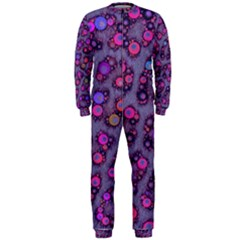 Purple Cheetah Pattern  OnePiece Jumpsuit (Men)