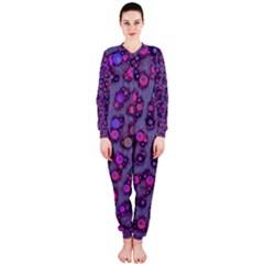 Purple Cheetah Pattern  OnePiece Jumpsuit (Ladies)