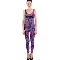 Purple Cheetah Pattern  OnePiece Catsuits