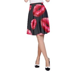 Sassy Lips  A-Line Skirts