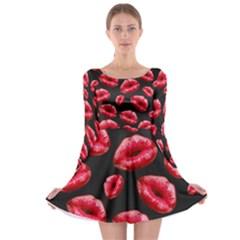 Sassy Lips  Long Sleeve Skater Dress